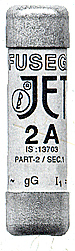 JET - TYPE HRC FUSE SYSTEM (CYLINDRICAL CAPS.)